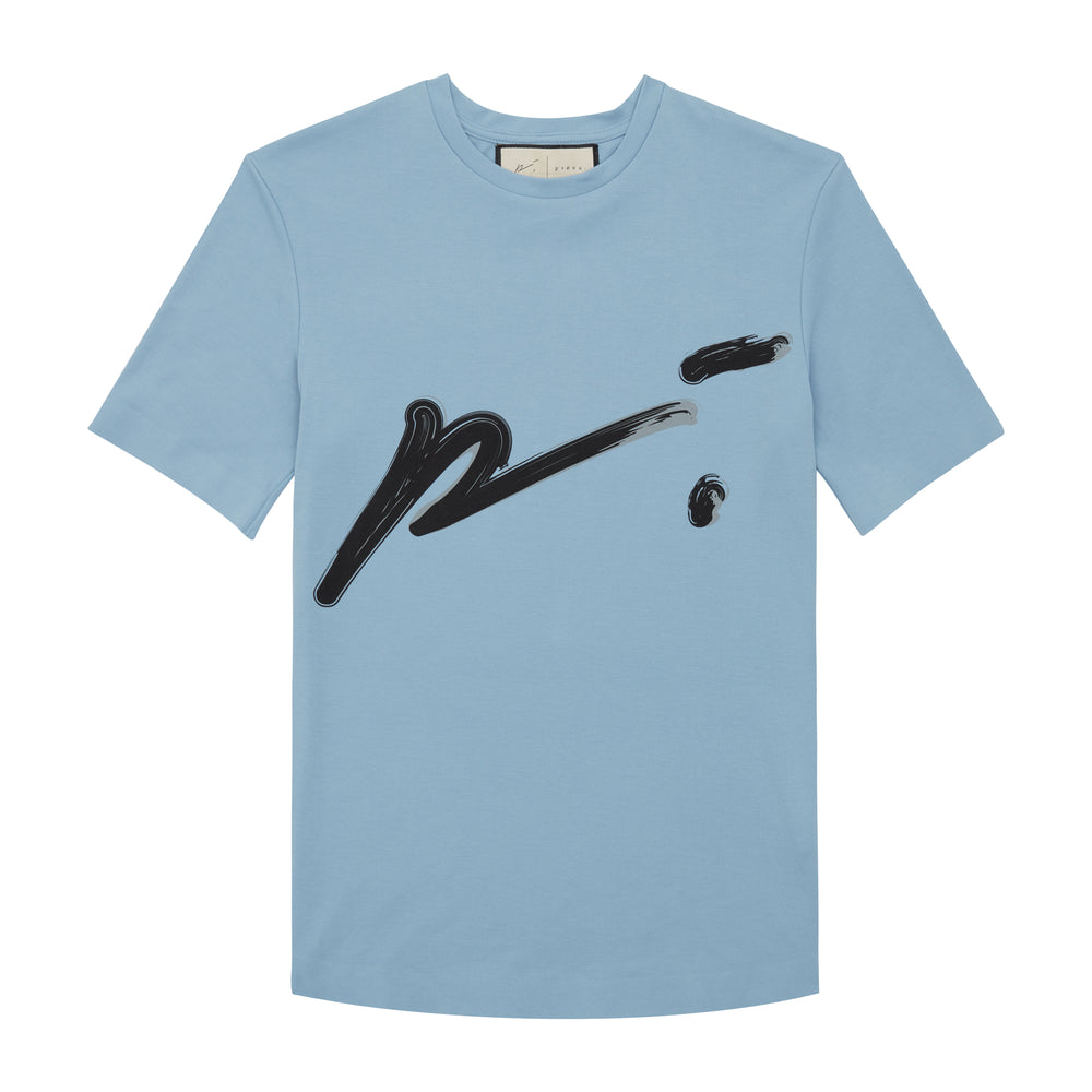 Dusty Blue T Shirt Sig P Heat Bonded