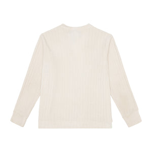 Load image into Gallery viewer, Cream Hudson Ribbed Cardigan - P r é v u . S t u d i o .