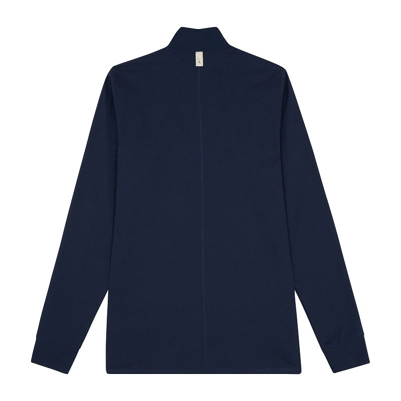 Navy Vinci Funnel Neck Slim Fit Top - P r é v u . S t u d i o .