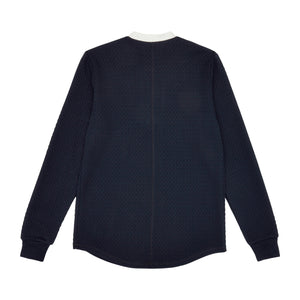 Navy Cruise Contrast Slim Fit Long Sleeve T-Shirt - P r é v u . S t u d i o .