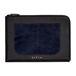 Dark Navy Langham Leather Document Bag - P r é v u . S t u d i o .