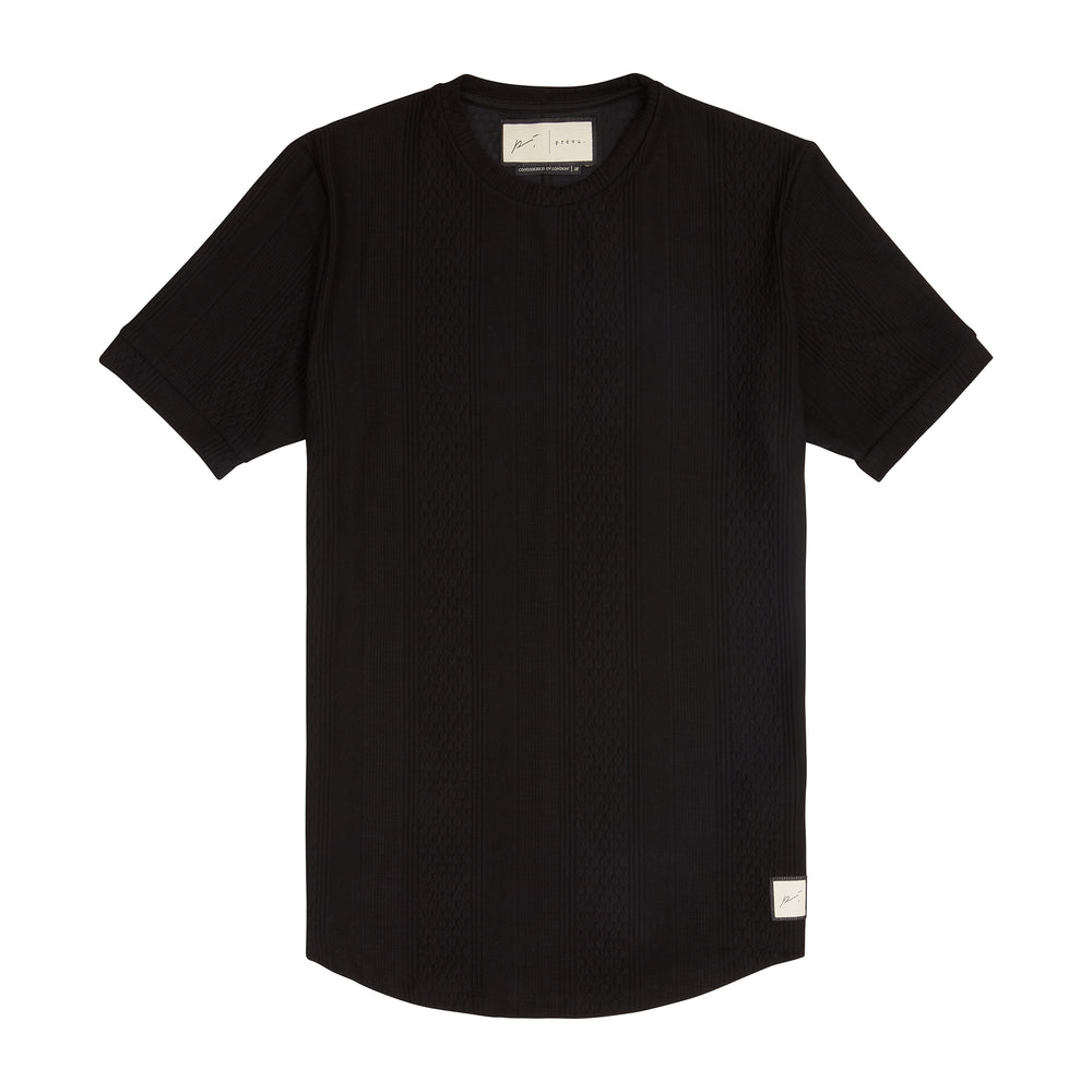 Load image into Gallery viewer, Black Broad Street Slim Fit T-Shirt - P r é v u . S t u d i o .