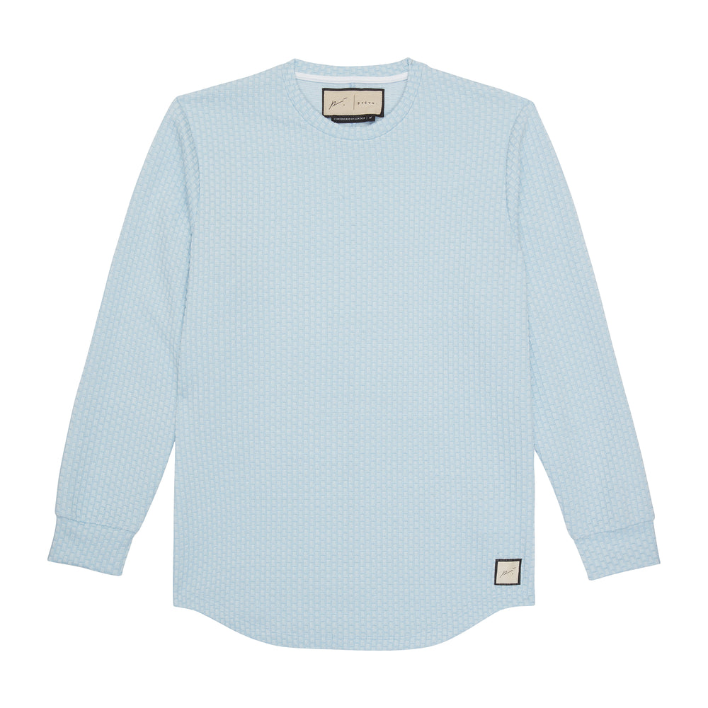 Light Blue Artisan Slim Fit Long Sleeve T-Shirt - P r é v u . S t u d i o .