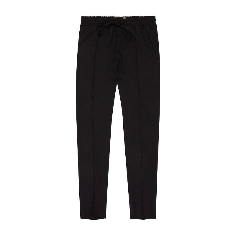 Black Liberty Twill Slim Fit Trousers - P r é v u . S t u d i o .