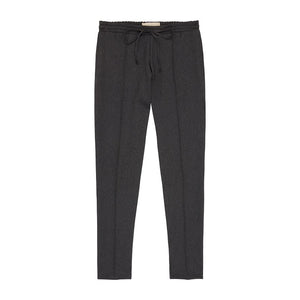 Dark Grey Liberty Twill Slim Fit Trousers - P r é v u . S t u d i o .