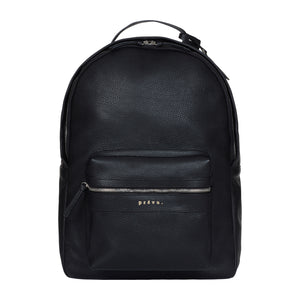 Black Tordino Pebble Leather Backpack - P r é v u . S t u d i o .