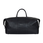 Black Tanaro Pebble Leather Holdall - P r é v u . S t u d i o .