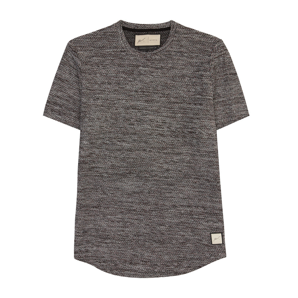 Black Reinhart Knitted Slim Fit T-shirt - P r é v u . S t u d i o .