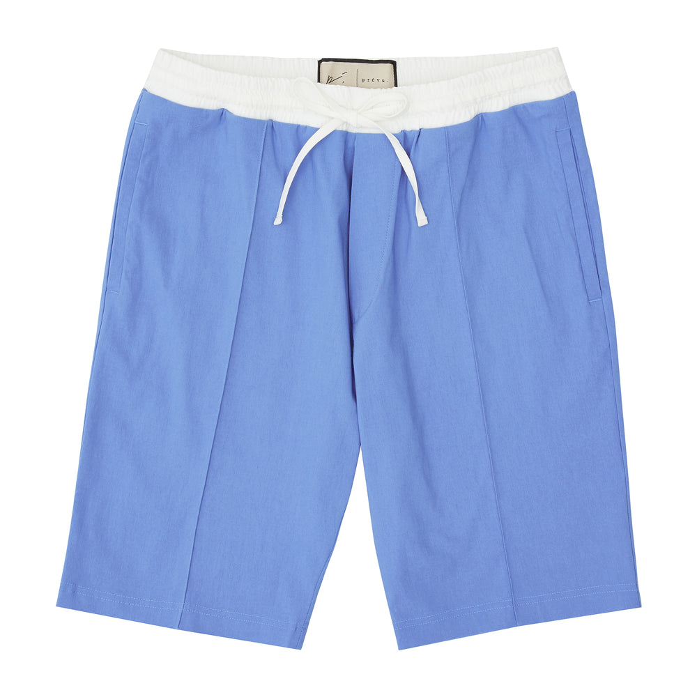 Sky Blue and Cream Salvatore Shorts - P r é v u . S t u d i o .