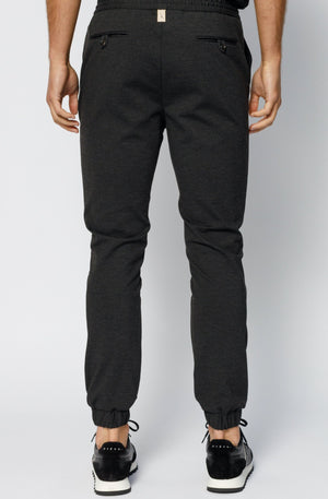 Load image into Gallery viewer, Charcoal Grey Clarendon Jersey Trousers - P r é v u . S t u d i o .