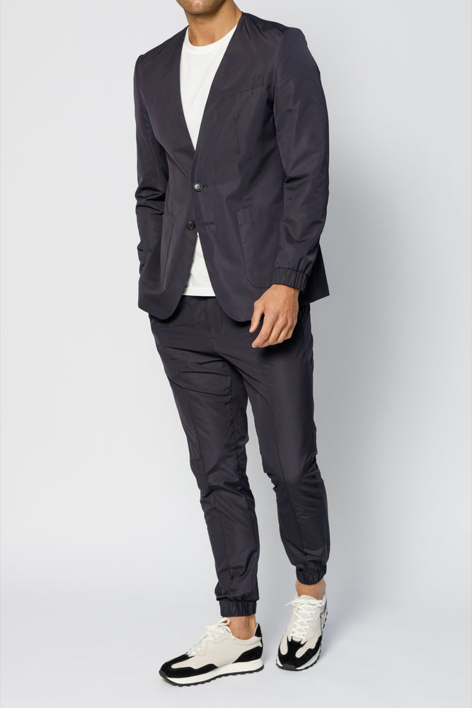 Navy Harley Technical Slim Fit Suit Jogger - P r é v u . S t u d i o .