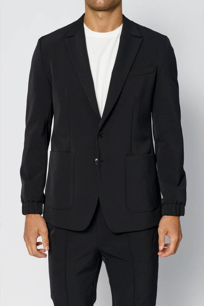 Black Ashburn Formal Stretch Blazer - P r é v u . S t u d i o .