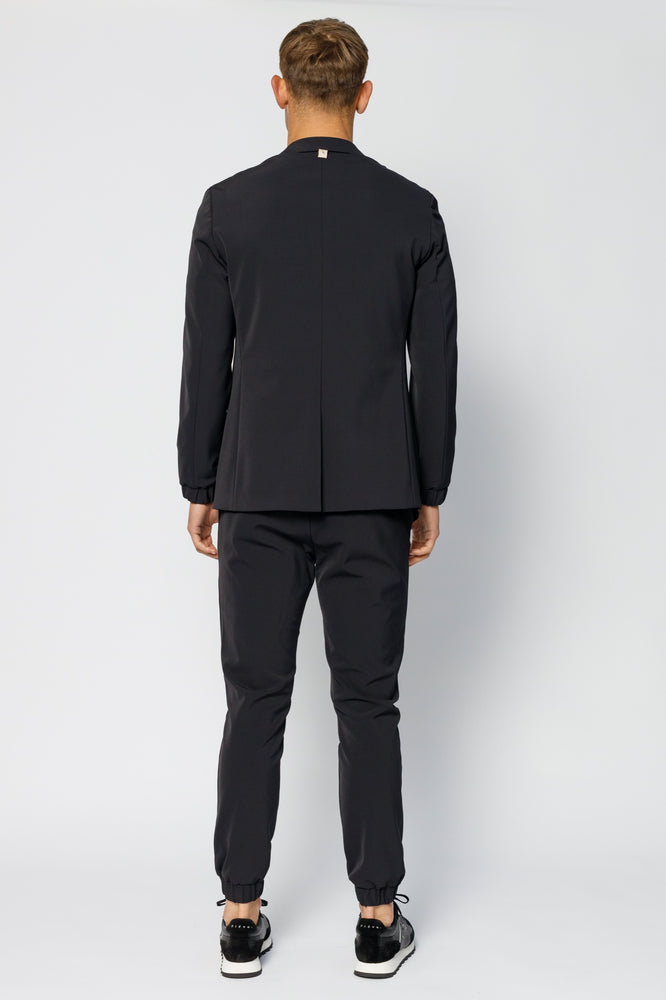 Black Ashburn Formal Stretch Trousers - P r é v u . S t u d i o .