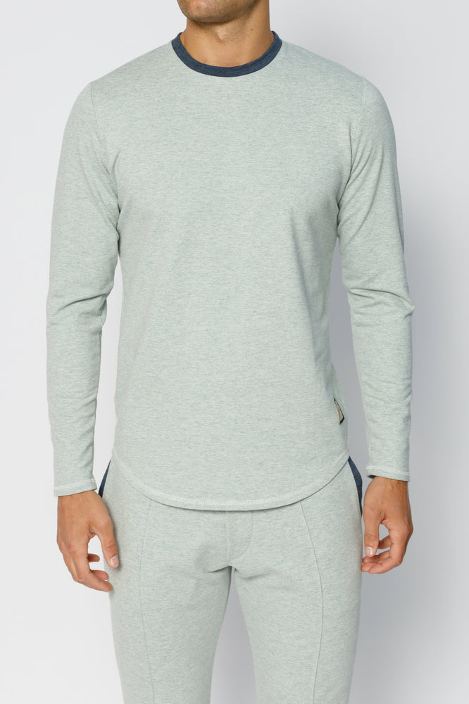 Mint Green Astral Marl Slim Fit Long Sleeve T-shirt