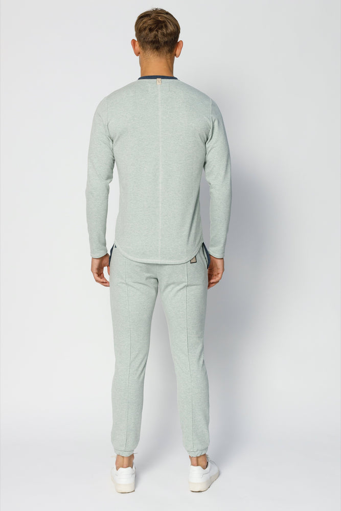 Load image into Gallery viewer, Mint Green Astral Marl Slim Fit Joggers - P r é v u . S t u d i o .