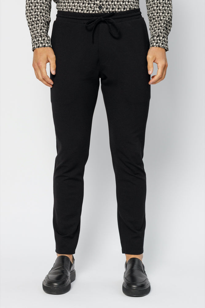 Load image into Gallery viewer, Black Sinclair Slim Fit Trousers
