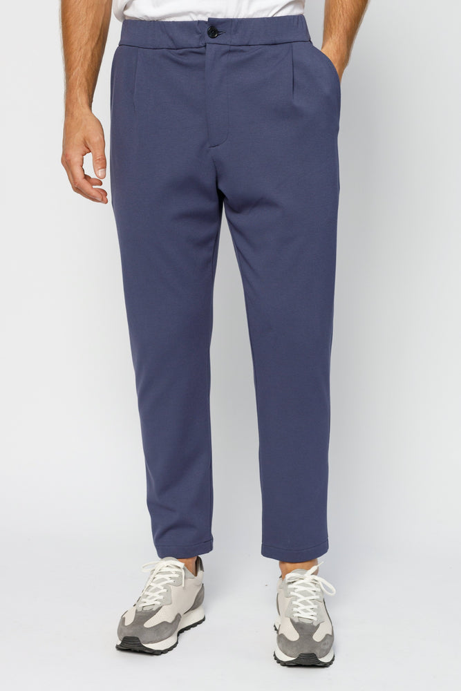 Blue Ried Tailored Regular Fit Trousers - P r é v u . S t u d i o .
