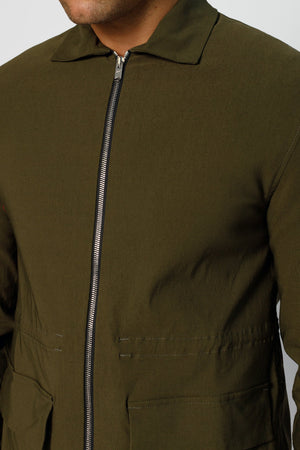 Load image into Gallery viewer, Khaki Signature Parka Jacket - P r é v u . S t u d i o .