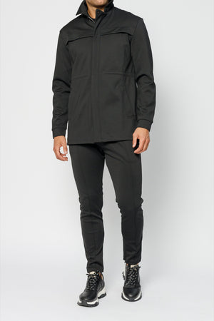 Load image into Gallery viewer, Black Alto Tech Parka Jacket - P r é v u . S t u d i o .