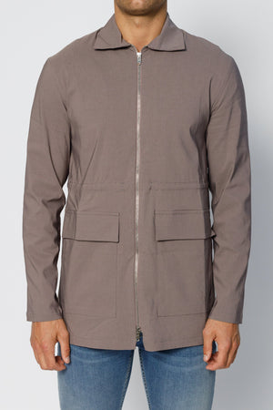 Grey Signature Parka Jacket