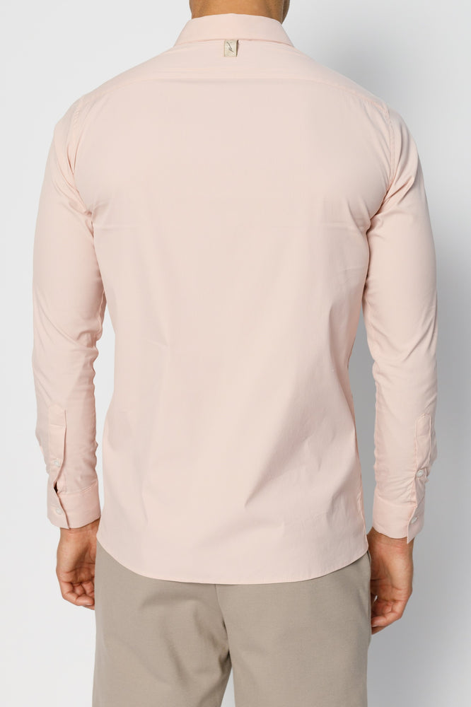 Pink Britton Formal Slim Fit Shirt - P r é v u . S t u d i o .