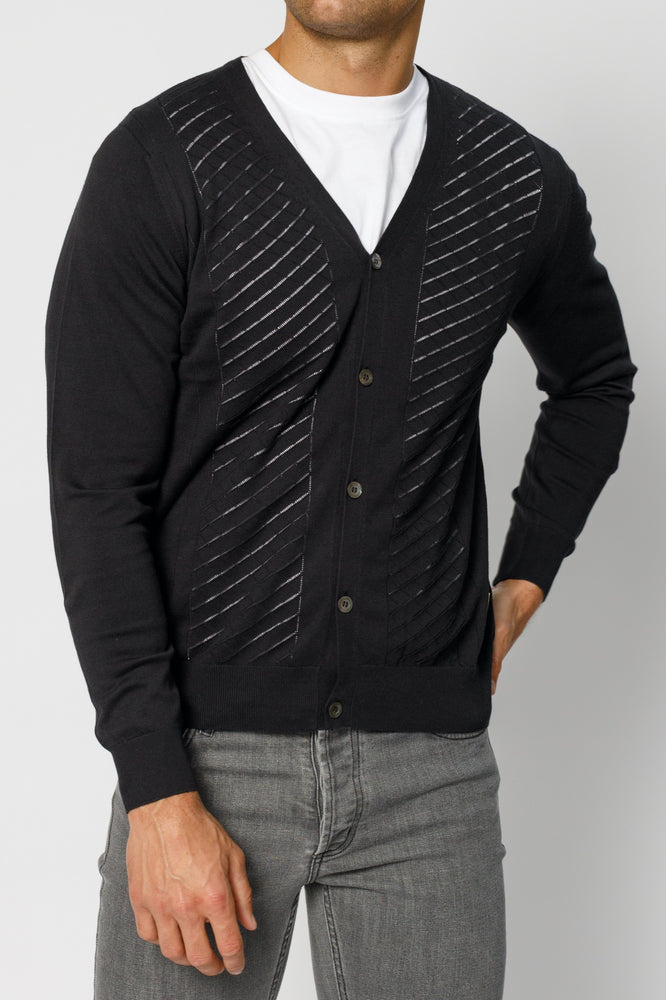 Black Wentworth Knitted Cardigan