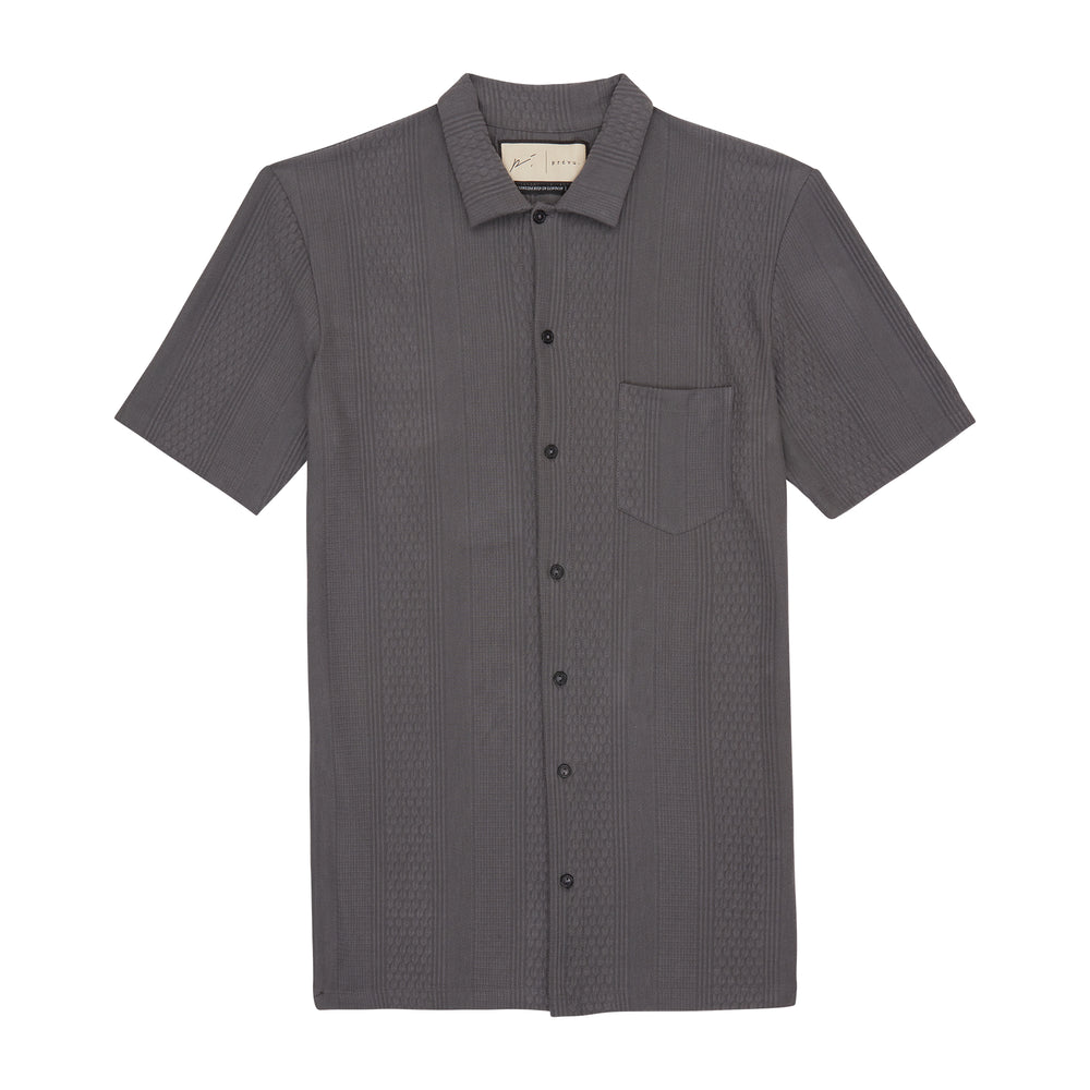 Load image into Gallery viewer, Dark Grey Broad Street Regular Fit Shirt - P r é v u . S t u d i o .