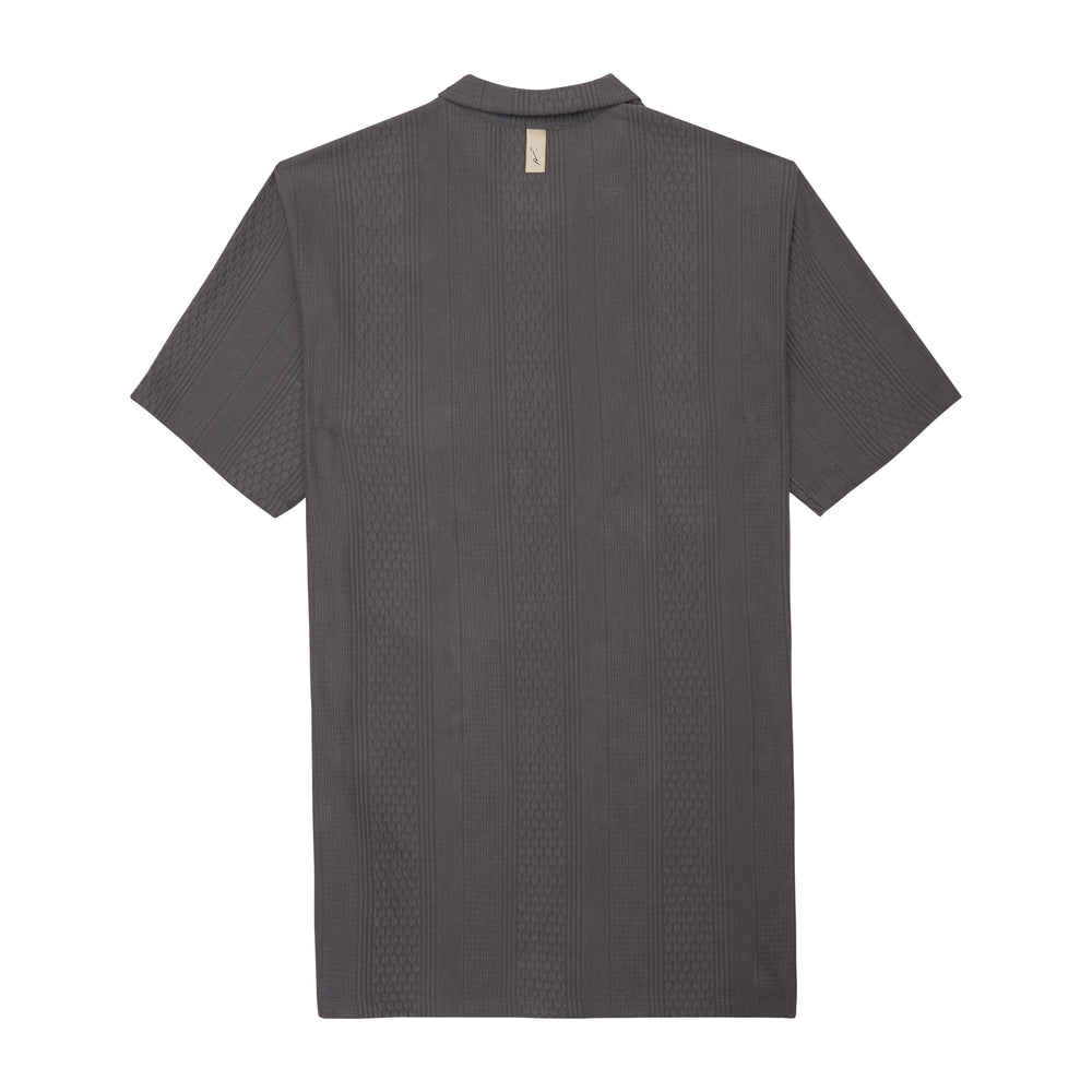 Dark Grey Broad Street Regular Fit Shirt - P r é v u . S t u d i o .