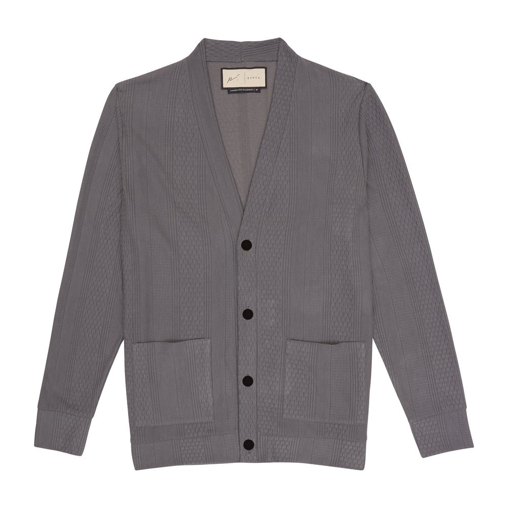Load image into Gallery viewer, Dark Grey Broad Street Cardigan - P r é v u . S t u d i o .