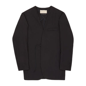 Black Liberty Twill Slim Fit Blazer - P r é v u . S t u d i o .
