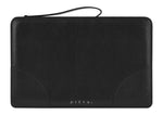 Black Montone Pebble Leather Clutch - P r é v u . S t u d i o .