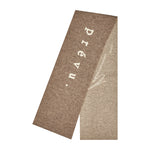 Light Brown Logo Merino Scarf - P r é v u . S t u d i o .