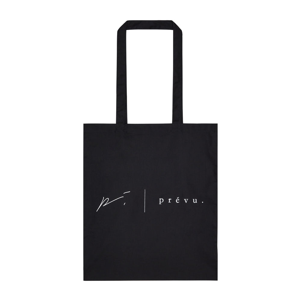 Black Prévu Canvas Tote Bag - P r é v u . S t u d i o .