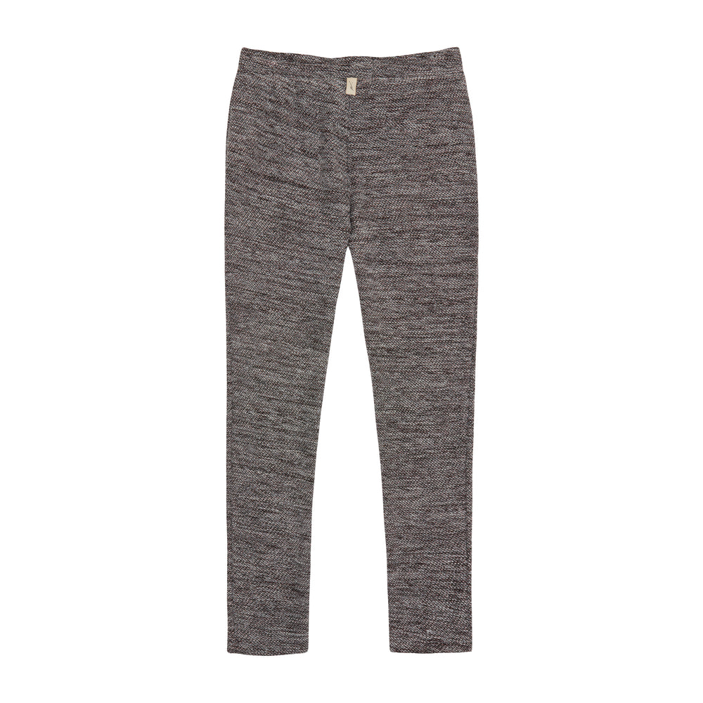 Black Reinhart Knitted Slim Fit Trousers - P r é v u . S t u d i o .