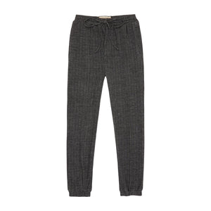 Charcoal Grey Sondrio Waffle Slim fit Trousers - P r é v u . S t u d i o .