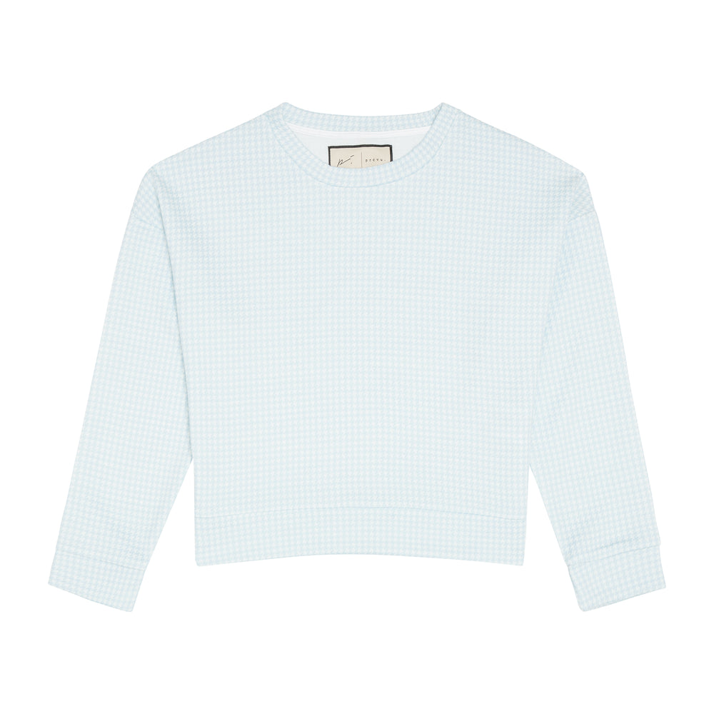 Load image into Gallery viewer, Women's Light Blue Medina Long Sleeve T-shirt - P r é v u . S t u d i o .