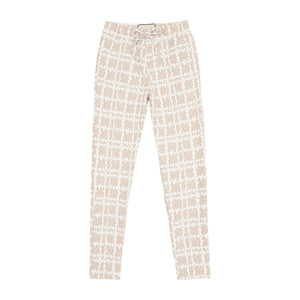 Women's Capello Nude Check Skinny Fit Trousers - P r é v u . S t u d i o .