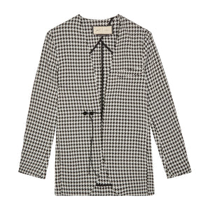 Women's Black and White Liberty Puppytooth Blazer - P r é v u . S t u d i o .