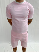 Pink and Cream Salvatore Slim Fit T-shirt - P r é v u . S t u d i o .