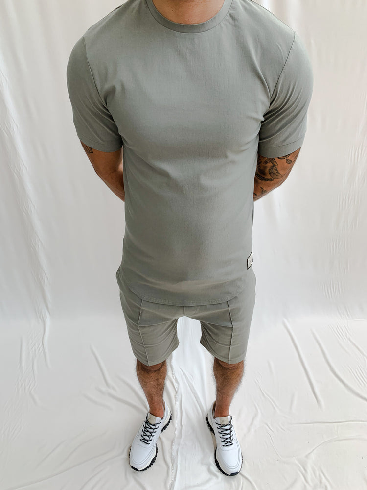 Light Grey Salvatore Slim Fit T-shirt - P r é v u . S t u d i o .