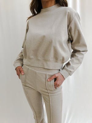 Women's Cream Colville Regular Fit Sweatshirt - P r é v u . S t u d i o .