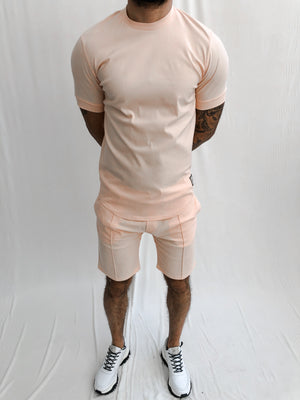 Load image into Gallery viewer, Peach Salvatore Shorts - P r é v u . S t u d i o .
