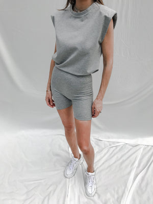 Load image into Gallery viewer, Women's Grey Aruba Box Fit T-shirt - P r é v u . S t u d i o .