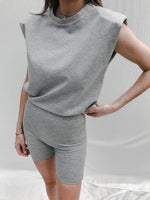 Women's Grey Aruba Box Fit T-shirt - P r é v u . S t u d i o .
