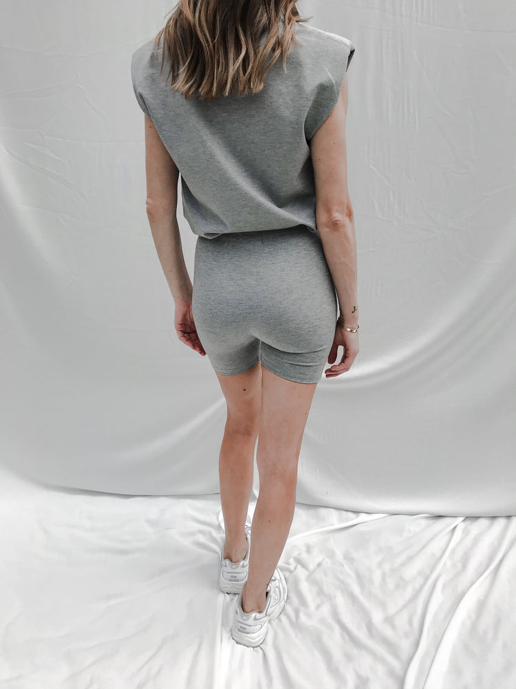 Women's Grey Aruba Cycling Shorts - P r é v u . S t u d i o .