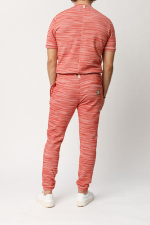 Load image into Gallery viewer, Red Rica Space Dye Slim Fit Joggers - P r é v u . S t u d i o .