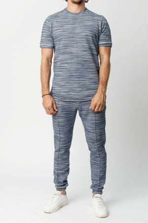 Navy Rica Space Dye Slim Fit T-shirt - P r é v u . S t u d i o .
