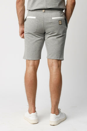 Load image into Gallery viewer, Grey Castell Panelled Shorts - P r é v u . S t u d i o .