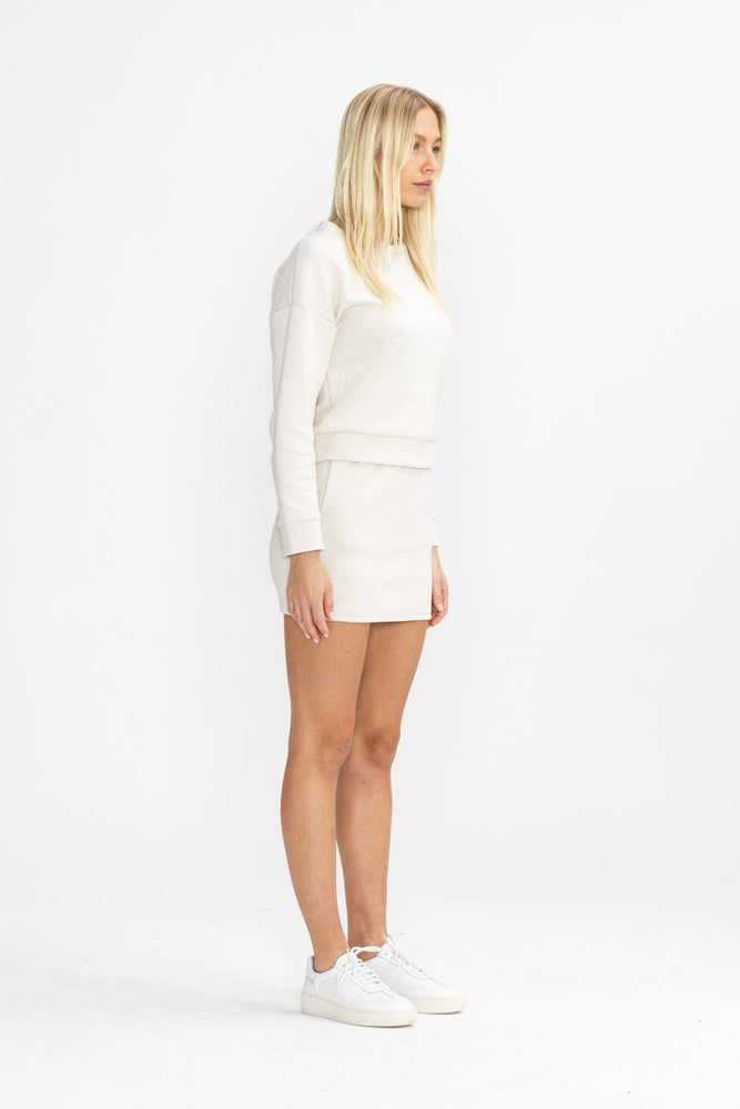Women's Cream Macchiato Mini Skirt - P r é v u . S t u d i o .