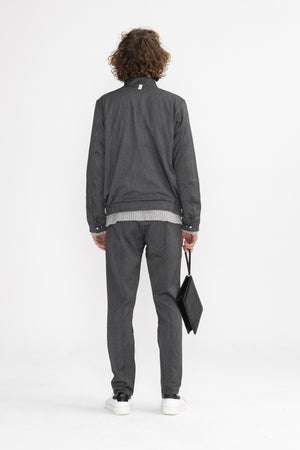 Load image into Gallery viewer, Chambers Street Twinset Grey (jacket) - P r é v u . S t u d i o .